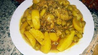 مريقة في الكوكوط بالدجاج و بطاطا و زيتون طبق سهل وسريع ولذييييذ جدا