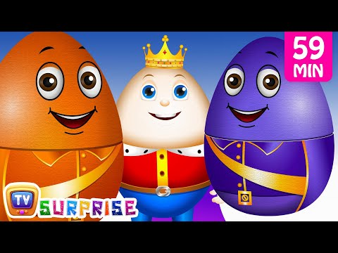 Learn Colours with Surprise Nesting Eggs Nursery Rhymes Toys | Humpty Dumpty | ChuChu TV Field Trip!