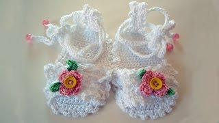 Free Baby Flip Flop Crochet Pattern , Sandalias de crochet de bebé 💓 ᴴᴰ █▬█