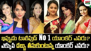 Tollywood Female Anchors Remuneration | Which Anchor Getting Highest Remuneration in Tollywood