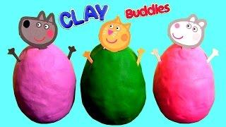 Clay Buddies Peppa Pig Surprise Eggs & Blind Bags & Play Doh Sorpresa Huevos Nickelodeon
