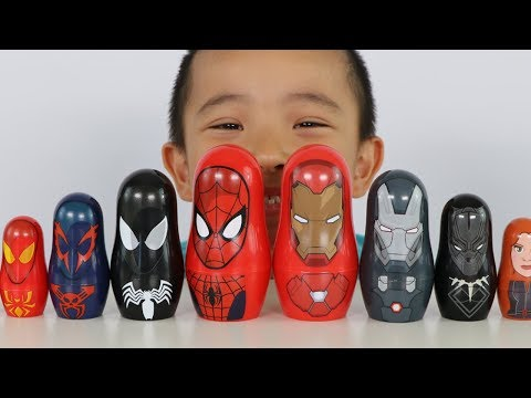 Xxx Mp4 Spider Man And Iron Man Surprise Nesting Dolls Opening Fun With Ckn Toys 3gp Sex