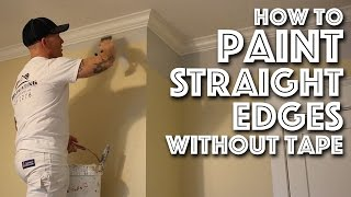 How to Paint Edges Without Tape - Cutting In Tutorial
