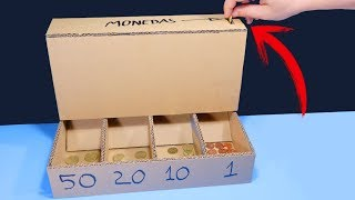 DIY Coin Sorting Machine from Cardboard (with measures)