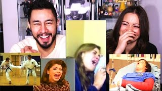 HILARIOUS VIDEOS REACTION BUFFET by Jaby & Jen!