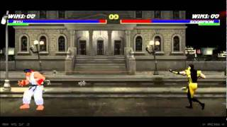 Mortal Kombat vs Street Fighter 2 (Ryu vs Scorpion) - HQ -
