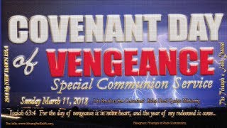 Covenant Day of Vengeance, March 11, 2018,  #MyNewDawnEra
