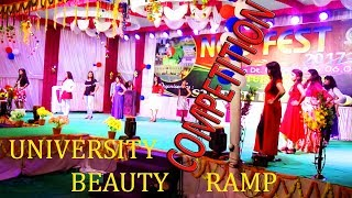 NOU FEST,North Odisha UniverIty Annual function-2018,Girls beautifull competition on stage Ramp..