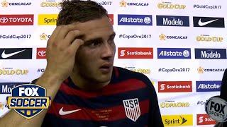 Jordan Morris reacts after scoring emotional game-winning goal | 2017 CONCACAF Gold Cup