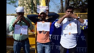 SSC Protest - Day 15: When the SSC Three monkeys joins Gandhi