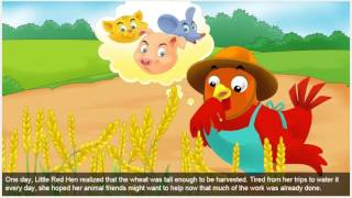 The story of The Little Red Hen In English Talking Before Sleep For Kids