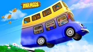 Wheels On The Bus | Kindergarten Nursery Rhymes by Farmees