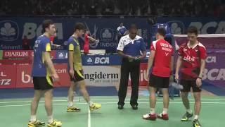 BCA Indonesia Open 2016 | Badminton R16 M2-MD | Lee/Yoo vs Gid/Suk