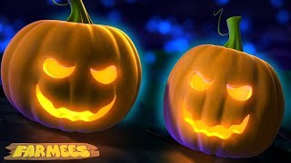 Scary Pumpkin Song   Halloween Rhymes And Kids Songs   Spooky Cartoons by Farmees