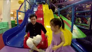 Fun Playground with a Cool 50 foot Slide! Play time with Pretty Girl & Toys!
