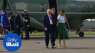 Trump and family head back to Washington after a 10 day vacation