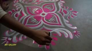 Easy colourful Rangoli designs,সহজ রঙিন আলপনা ডিজাইন, रंगीन अल्पना डिजाइन,