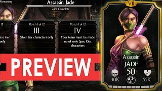 ASSASSIN JADE Challenge Requirements and BOSS BATTLE Preview. Mortal Kombat X Mobile.