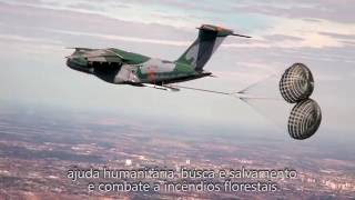 KC-390 debut at the Farnborough Airshow 2016