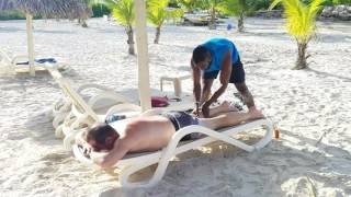Jamaican Pimento Oil Massage on the Beach   Jah Prussia