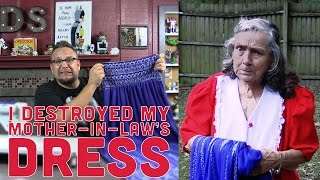 I Destroyed My Mother-In-Law's New Dress - DadSews
