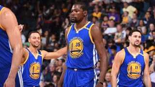 Curry, Durant and Thompson Combine for 78 Points