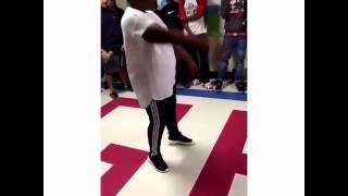 FAT KID DANCING INTO DEATH DROP