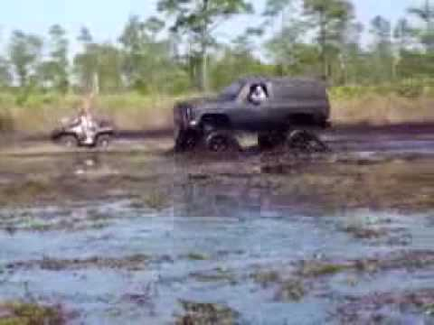 WTF CREW mud boggin big 4x4 trucks jeep mudding