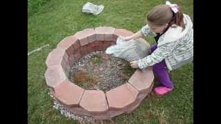 How to easily build a fire pit.