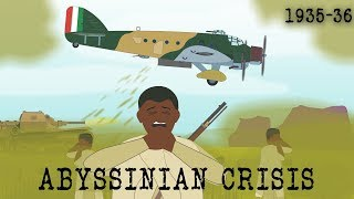 The Italian invasion of Abyssinia (1935-36)