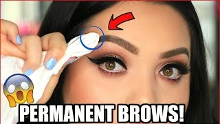 DIY PERMANENT BROWS   THE WUNDER BROW!