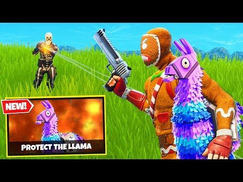 PROTECT THE LLAMA Custom Gamemode in Fortnite Battle Royale