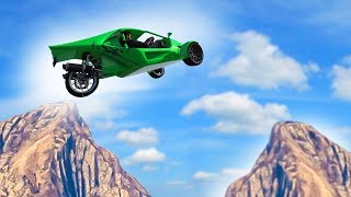 JUMP OVER THE MOUNTAINS OR DIE! (GTA 5 Funny Moments)