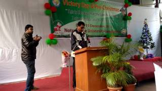 Christmas Wish Speech by Assistant Prof. (CSE) Stanly Pius Rozario