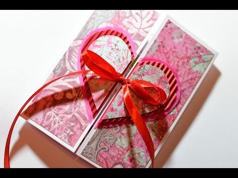 How to Make - Valentine's Day Card Heart Embossing - Step by Step | Kartka Na Walentynki Serce