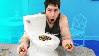 M&M CANDY TOILET CHALLENGE!!!