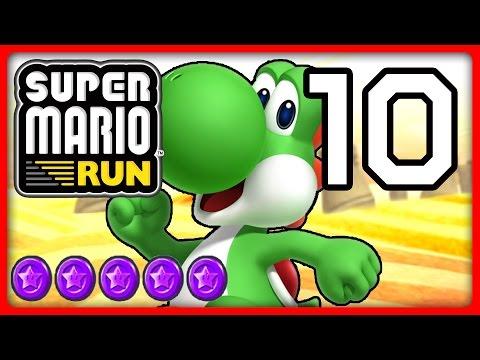 Super Mario Run Part 10 Yoshi Flattert Zu Lila Münzen Von World 5