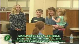 MARLINGTON BOARD OF EDUCATION PUBLIC STATES FOR AND AGAINST LEVEY
