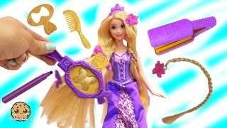 Disney Princess Rapunzel Draw N Style with Hair Color Markers at Barbie Fairytale Salon