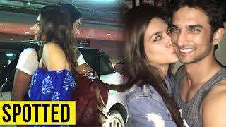 Sushant Singh Rajput Hugs Kriti Sanon After Media Interaction