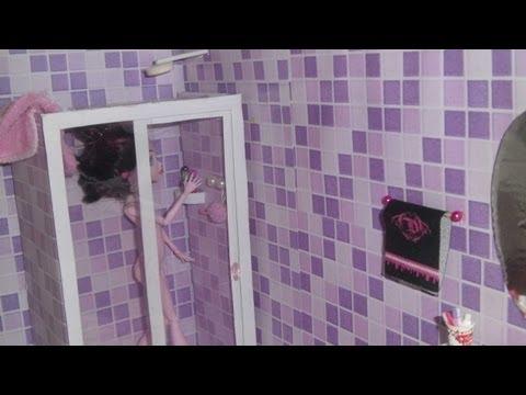 Como fazer um banheiro (box e chuveiro) para boneca Monster High, Barbie e etc