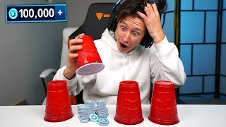 GUESS The RIGHT Cup & WIN 100,000 VBUCKS! (Fortnite Battle Royale)