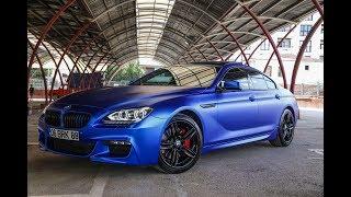 BMW 6 Serisi MAT SATIN MAVİ FLEXI KROM Folyo Kaplama Uygulaması