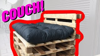 AWESOME Pallet Couch DIY Project (Sofa made of pallets)
