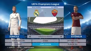 PES 2016 UCL | REAL MADRID VS ROMA - LIVE COMMENTARY