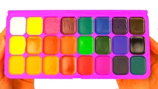 Learn Colors with Watercolor Painting Funny Colours Creative For Kids Play-Doh Preschool Toys
