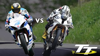 GUY MARTIN vs MICHAEL DUNLOP @ 200mph! PURE ADRENALINE! On Bike POV Lap! Isle of Man TT RACES