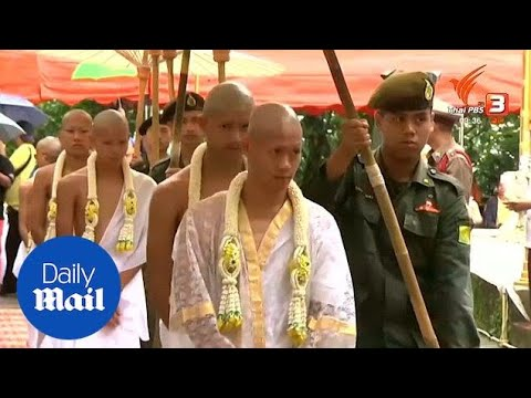 Xxx Mp4 Thai Boys Are Ordained As Buddhist Novices To Honour Rescuer Daily Mail 3gp Sex