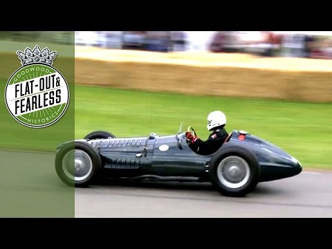 Screaming BRM V16 at Festival of Speed 2014