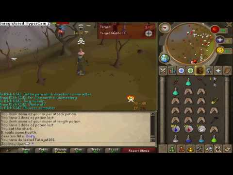 RUNESCAPE  Journey Upon BH NEW P2P PvP Pk Vid #2 1 Def Hybrid Ownage Pure Bounty Hunter